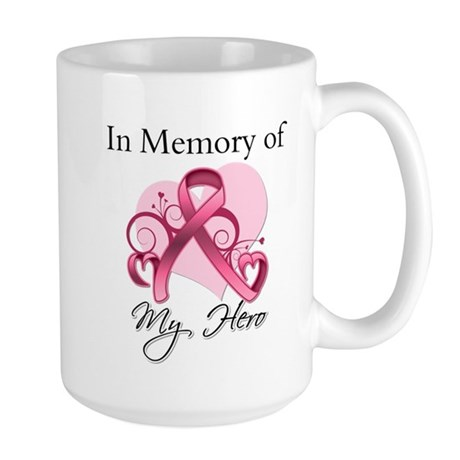 Breast Cancer In Memory Hero Large Mug