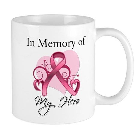 Breast Cancer In Memory Hero Mug