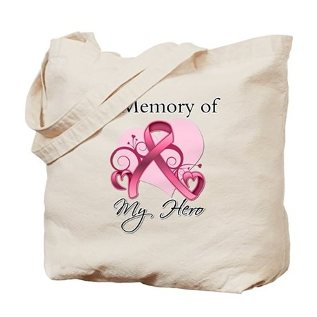 Breast Cancer In Memory Hero Tote Bag
