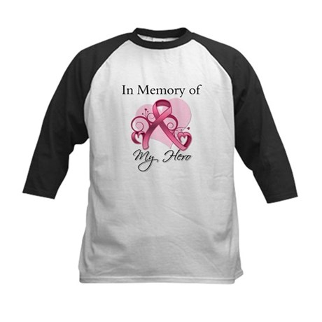 Breast Cancer In Memory Hero Kids Baseball Jersey