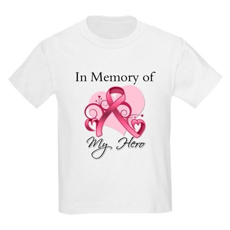 Breast Cancer In Memory Hero Kids Light T-Shirt