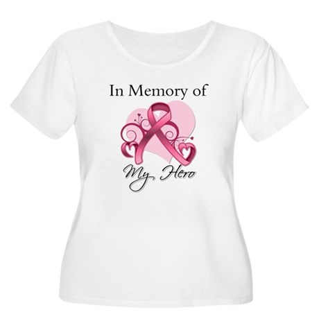 Breast Cancer In Memory Hero Women's Plus Size Sco