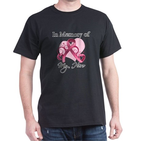 Breast Cancer In Memory Hero Dark T-Shirt