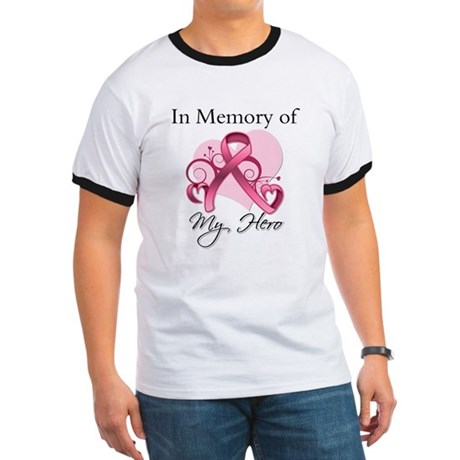 Breast Cancer In Memory Hero Ringer T