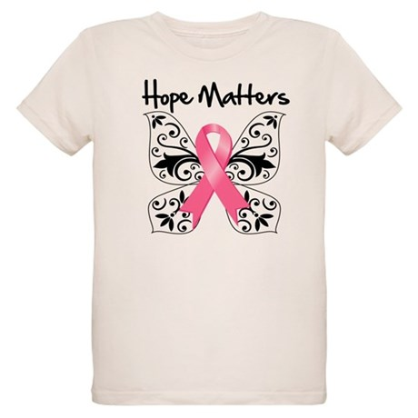 Hope Matters Breast Cancer Organic Kids T-Shirt
