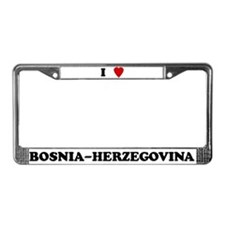 I Love Bosnia-Herzegovina License Plate Frame
