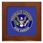 Licensed Bird Bander Framed Tile