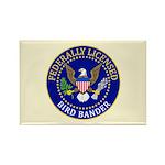Licensed Bird Bander Rectangle Magnet