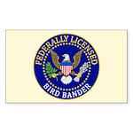 Licensed Bird Bander Sticker (Rectangle)