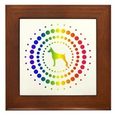 Doberman Pinscher Framed Tile