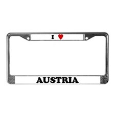 I Love Austria License Plate Frame