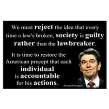 Reagan Quote - Individual Accountable Large Poster