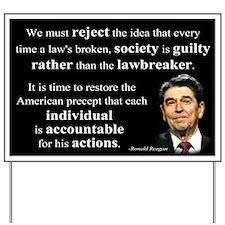 Reagan Quote - Individual Accountable Yard Sign