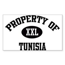 Property of Tunisia Rectangle Decal