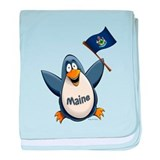 Maine Penguin baby blanket