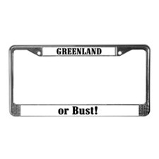 Greenland or Bust! License Plate Frame