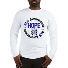 ALS Hope Butterfly Long Sleeve T-Shirt
