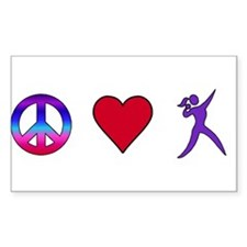 Peace Love Shot Put Decal