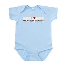 I Love U.S. Virgin Islands Infant Creeper