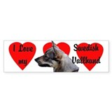Swedish Vallhund Love Bumper Car Sticker