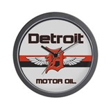 Detroit Motor Oil Wall Clock