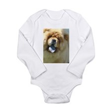 Funny Chow Long Sleeve Infant Bodysuit
