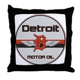 Detroit Motor Oil Throw Pillow