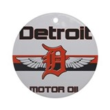 Detroit Motor Oil Ornament (Round)