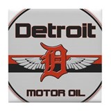 Detroit Motor Oil Tile Coaster