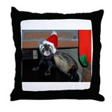 Ferret Christmas Throw Pillow