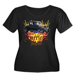 Rat Rod Women's Plus Size Scoop Neck Dark T-Shirt