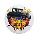 Rat Rod Ornament (Round)