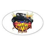 Rat Rod Sticker (Oval 10 pk)