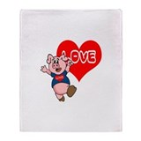 The Love Piggy Throw Blanket