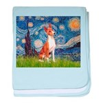 Starry Night & Basenji baby blanket