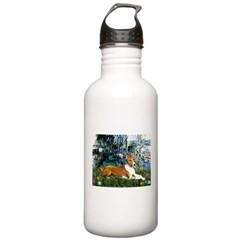 Lilies (1) with a Basenj Water Bottle