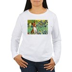 Basenji in Irises Women's Long Sleeve T-Shirt