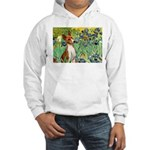 Basenji in Irises Hooded Sweatshirt