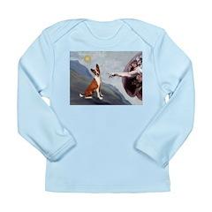 Creation of the Basenji Long Sleeve Infant T-Shirt