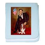 Lincoln / Basset Hound baby blanket