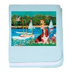 Sailboats & Basset baby blanket