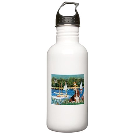 Sailboats & Basset Stainless Water Bottle 1.0L