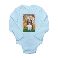 Monet's Spring & Basset Long Sleeve Infant Bodysui