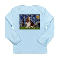 Starry Night & Basset Long Sleeve Infant T-Shirt