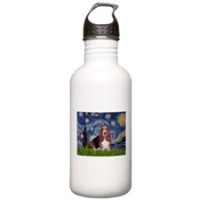Starry / Basset Hound Water Bottle