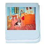 Van Gogh's Room & Basset baby blanket