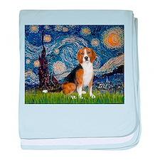 Starry Night & Beagle baby blanket
