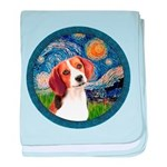 Starry Night Beagle #1 baby blanket