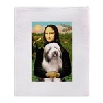 Mona / Bearded Collie #1 Throw Blanket