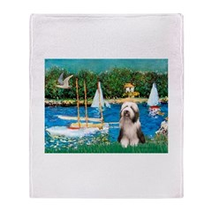 Sailboats / Beardie #1 Throw Blanket